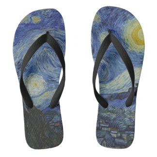 Vintage Van Gogh Starry Night Thongs