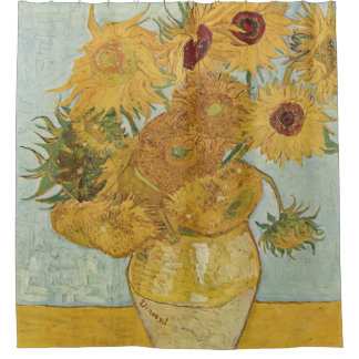 Vintage Van Gogh Sunflowers Art Shower Curtain