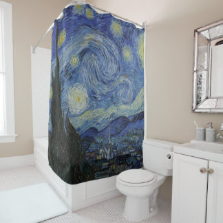 Vintage Van Gogh The Starry Night Shower Curtain