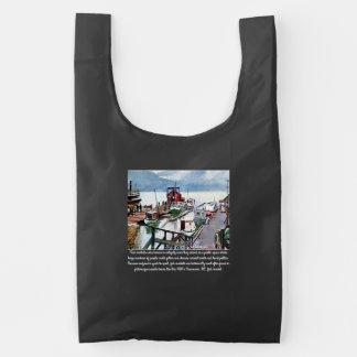 """""""Vintage Vancouver an Montreal, BC"""" Baggu Reusable Bag"""