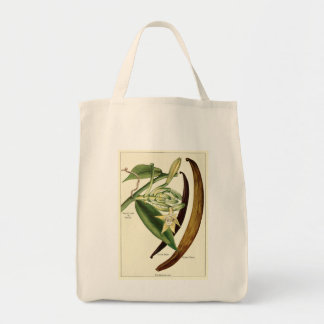 Vintage vanilla illustration groceries tote bag