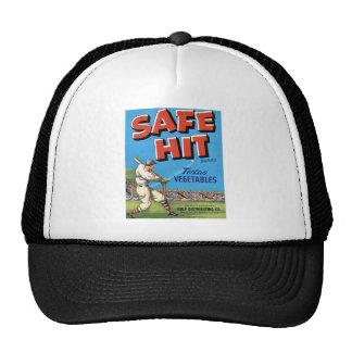 Vintage Vegetable Advertisement Safe Hit Trucker Hat