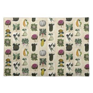 Vintage Vegetable Botanical Prints placemat