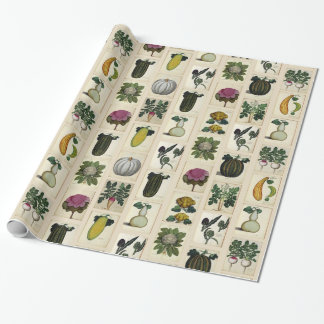 Vintage Vegetable Botanical Prints Wrapping Paper