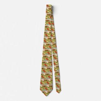 Vintage Vegetable Can Label Art, Rhubarb Farm Tie