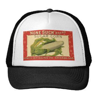 Vintage Vegetable Label Art, None Such Sugar Corn Cap