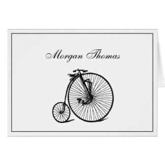 Vintage Velocipede Bicycle Bike Card