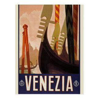 Vintage Venezia Italy Travel Tourism Postcard