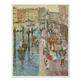 Vintage Venice Italy Poster