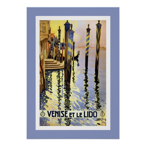 Vintage Venice Italy Travel Large Poster