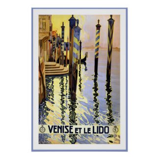 Vintage Venice, Italy Travel Poster