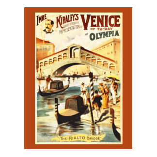 Vintage Venice of to-day, Rialto bridge Postcard