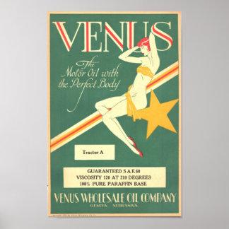 Vintage 'Venus' Motor Oil Poster