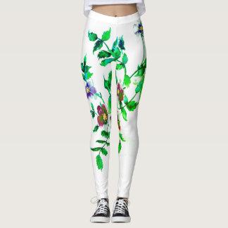 Vintage verde Rose Leggings