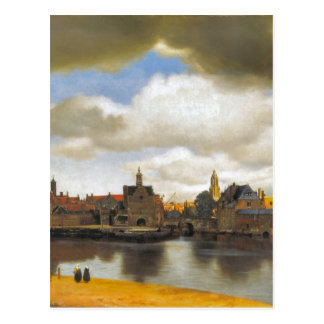 Vintage  Vermeer, view of Delft Postcard