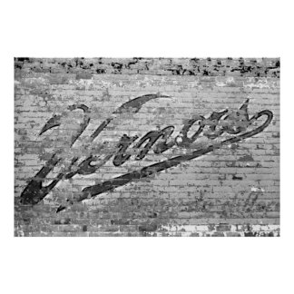 Vintage Vernors Wall Ann Arbor Michigan 1999 Poster