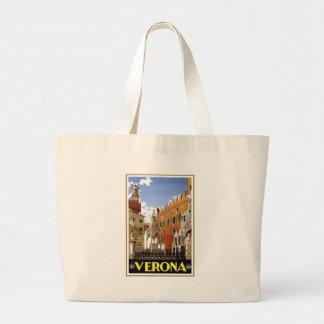 Vintage Verona Italy Jumbo Tote Bag