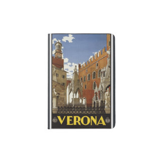 "Vintage ""Verona"" Passport Protector Passport Holder"