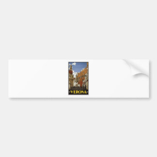 Vintage Verona Travel Bumper Sticker