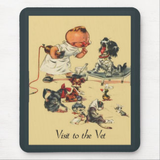 Vintage Veterinarian  Visit to the Vet Mouse Pad
