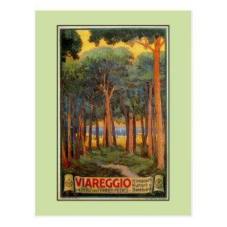 Vintage Viareggio Italian travel advertising Postcard