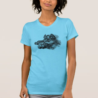 Vintage Vicious Wild Boar w Tusks Template Tees