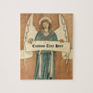 Vintage Victorian Angel by William Morris Jigsaw Puzzle