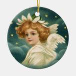 Vintage Victorian Angelic Christmas Angel, Stars Christmas Ornaments