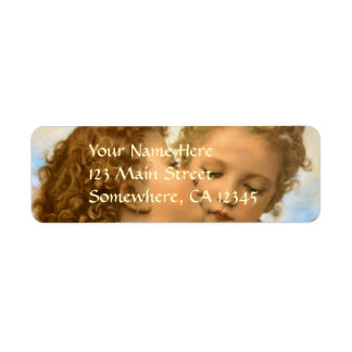 Vintage Victorian Angels, First Kiss by Bouguereau Return Address Label