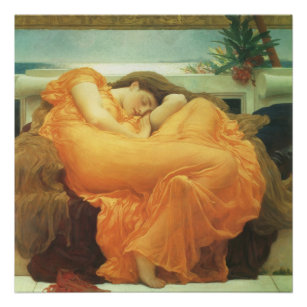 Vintage Victorian Art, Flaming June by Leighton Poster