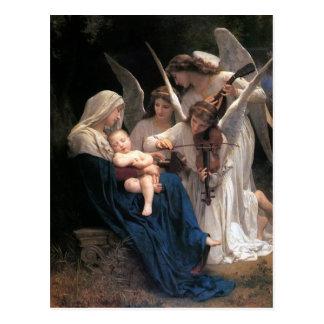Vintage Victorian Art, Song of Angels, Bouguereau Postcard