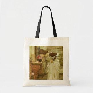 Vintage Victorian Art, The Shrine by JW Waterhouse Budget Tote Bag