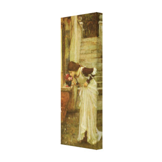 Vintage Victorian Art, The Shrine by JW Waterhouse Stretched Canvas Print