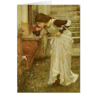 Vintage Victorian Art, The Shrine by JW Waterhouse Card