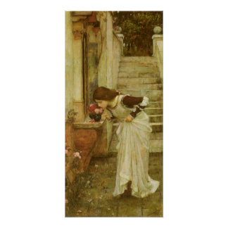Vintage Victorian Art, The Shrine by JW Waterhouse Poster