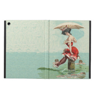 Vintage Victorian Bathing Beauty Lady Ocean iPad Air Cover