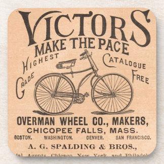 Vintage Victorian Bicycle Advertisement Beverage Coaster