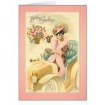 Vintage Victorian Birthday Day Card