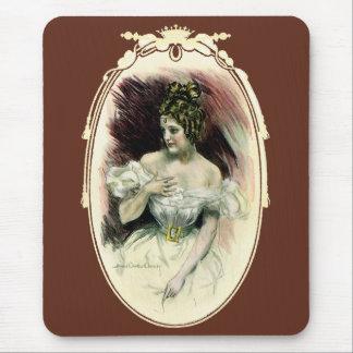 Vintage Victorian Bridal Portrait Mouse Pad
