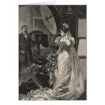 Vintage Victorian Bride, Bridal Portrait Greeting Card