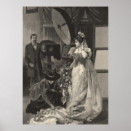 Vintage Victorian Bride, Bridal Portrait Poster