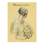 Vintage Victorian Bride, Bridal Shower Invitation