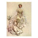 Vintage Victorian Bride Portrait Bridal Shower Personalised Invitation