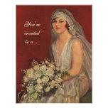 Vintage Victorian Bride Portrait, Bridal Shower Invites