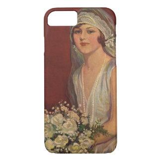 Vintage Victorian Bride Posing for Bridal Portrait iPhone 7 Case