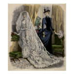 Vintage Victorian Bride, Wedding Bridal Portrait Poster