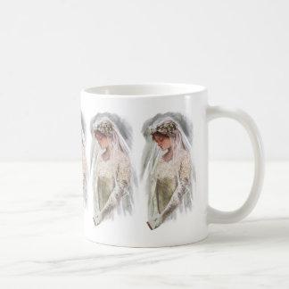 Vintage Victorian Bride with Bible Harrison Fisher Coffee Mug