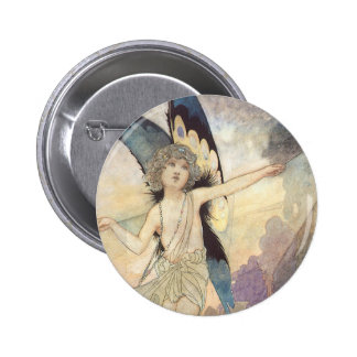 Vintage Victorian Butterfly Fairy by Robinson 6 Cm Round Badge