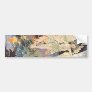 Vintage Victorian Butterfly Fairy by Robinson Bumper Sticker