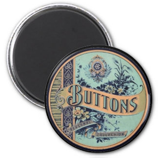 Vintage Victorian Button Label Magnet Fridge Magnet